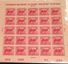 """America's First Souvenir Stamp Sheet"" 1926 Battle of White Plains stamp sheet of 25 2cent stamps"
