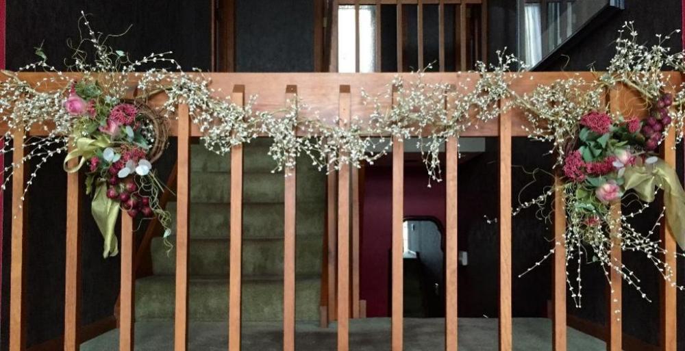 Lg Woven Wreath Decoration Eucalyptus Swag Other Decor
