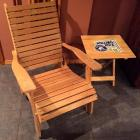 Danfred Chair folding wood slat chair & Rolling Rock wooden table