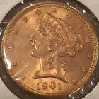 1901-S U.S. $5 Liberty gold coin