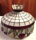 "Stained & leaded glass ""fruit"" hanging light"