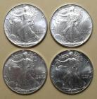 4 - 1994 American Eagle uncirculated 1oz. silver dollars