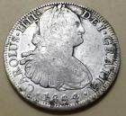1804 Spanish Colonial 8 Reales coin (silver dollar size)
