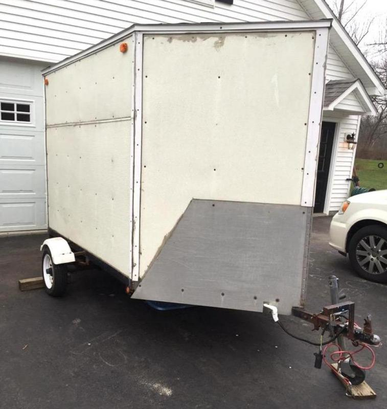 Homemade enclosed trailer Please Wait... Click image to enlarge