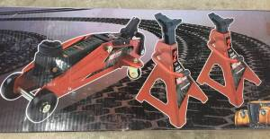 Hot Rod new floor car jack & jack stand combo set