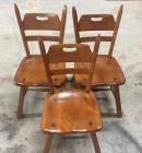 3 maple chairs by Cushman