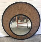 Contemporary black decorative wall mirror