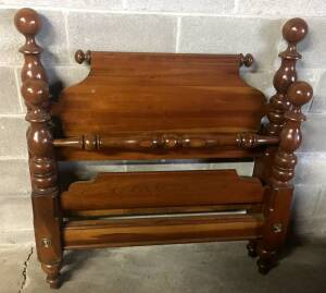 Cherry cannonball twin bed