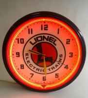 Lionel Electric Trains Neon Clock