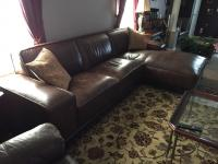 Leather-like sectional sofa - 1yr old