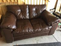 Leather-style Love Seat