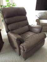 Leather-style recliner/rocker