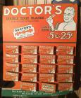 """Doctors Double-Sided Razor Blades"" counter-top display, vintage cardboard, Tugend Blade Co., Buffalo"