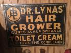 """Dr. Lynas Hair Grower"" antique carboard sign"