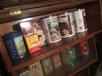 Group of 50+ advertising tins