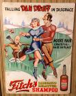 "Fitchs ""Dan Druff"" advertising sign"