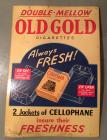 Old Gold Cigarettes Cardboard Advertising Sign