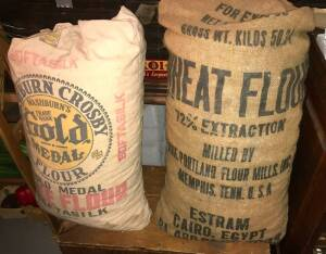 Fruit Stand and Flour Sacks