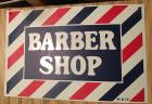 "1972 ""Barber Shop"" metal sign, 12"" x 17"""