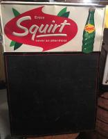 1968 Squirt tin sign with chalkboard