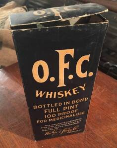 Unopened Bottle of O.F.C Whiskey