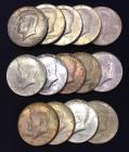 14-Kennedy Half Dollars - 1965-1969 Assorted