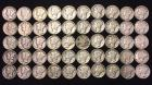 50-Mercury Dimes 1943-1945 dates