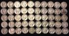 50-Mercury Dimes 1940-1942 dates