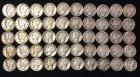 50 Mercury Dimes 1920's & '30's dates