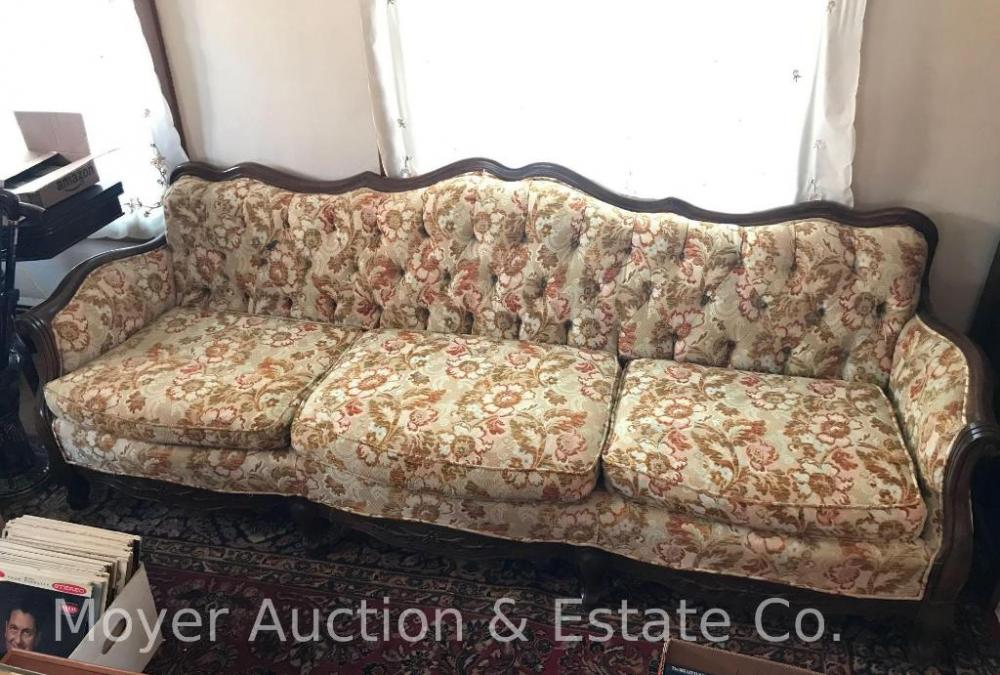 Swell Floral Pattern Victorian Style Sofa Current Price 60 Camellatalisay Diy Chair Ideas Camellatalisaycom