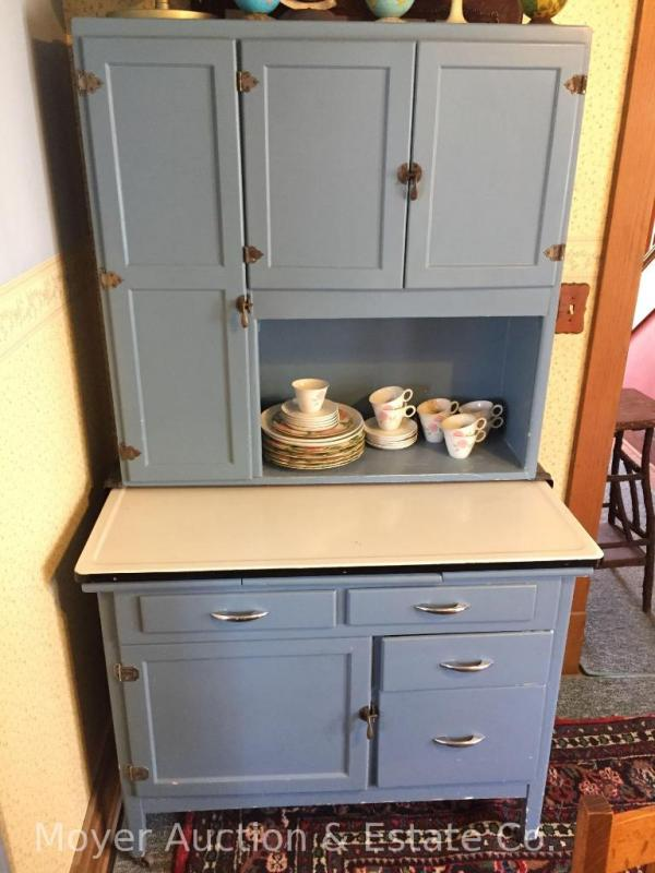 Hoosier-style Kitchen Cabinet w/Porcelain Top - Current price: $310