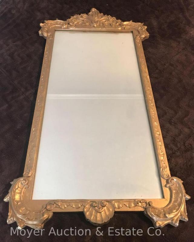Large Gold Framed Mirror - 24