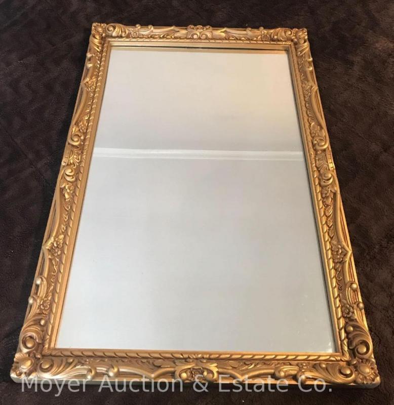 Large Gold Framed Mirror - Plastic frame - 24\