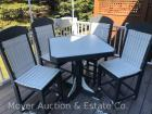 5Pc. Poly Patio Set - Amish-Made, Like-new