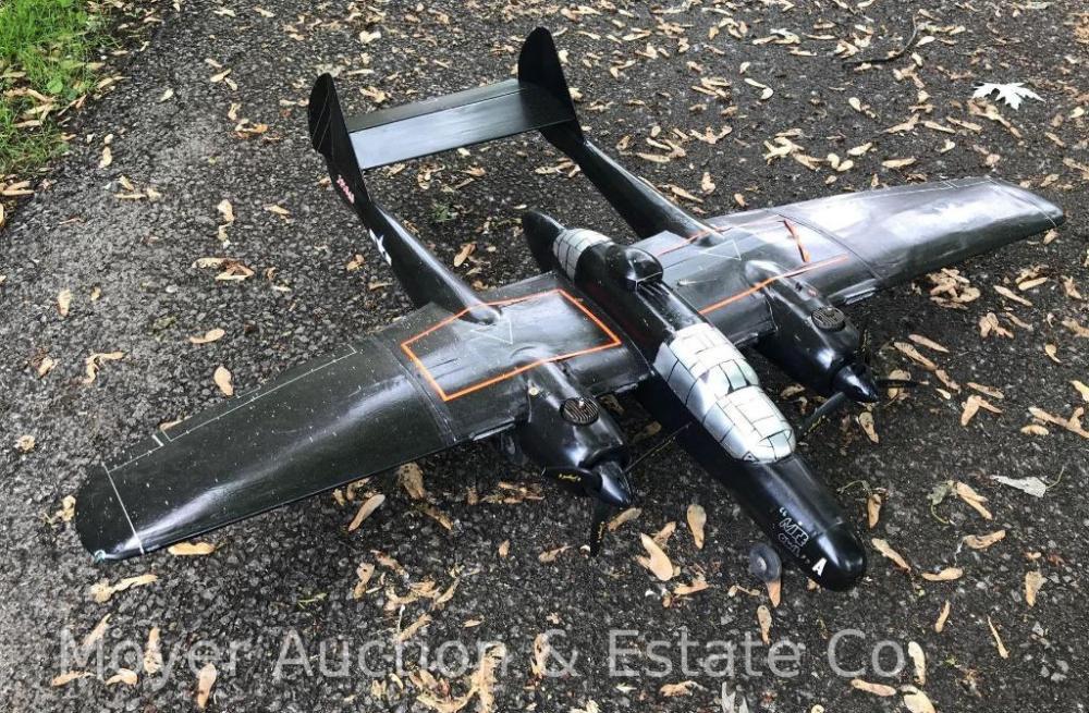 P-61 Twin Nitro Engine Control Line Model Plane, 55