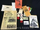 Group of 1960's Local Steam & Engine Related Paper incl 1966 Pageant of Steam flyer, buttons, etc.