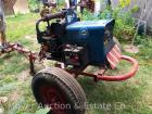 Miller AEAD-200LE Welder/Generator with Onan Gas Engine on Homemade Trailer, shows 410 hours, electric start