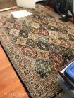 Large 8ft. x 11ft. Area Rug, good condition with fraying at one edge