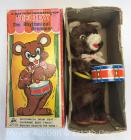 "Battery Operated ""Teddy the Rhythmical Drummer"" toy by Alps Japan, with original box, bear is 11""tall"