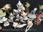 Collection of 25 Fairys, Pixies & Elf Figures, vintage