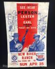 "Original Lester Flatt & Earl Scruggs Music Poster, 22""tall x 14""wide, some staining"