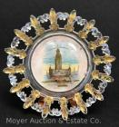 "Pan-American Exposition 1901 Buffalo NY Souvenir Glass Plate ""Electric Tower"", 8""wide"