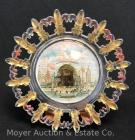 "Pan-American Exposition 1901 Buffalo NY Souvenir Glass Plate ""Temple of Music"", 8""wide"