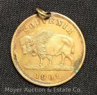 "Pan-American Exposition 1901 Souvenir Medal ""May-November"", brass, 1 1/2""wide, drilled, TM84"