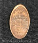 Pan-American Exposition 1901 Buffalo NY Souvenir Pressed Penny showing the Temple of Music