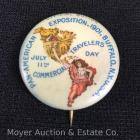 Pan-American Exposition 1901 Buffalo NY Souvenir Pin - July 11th Commerical Travelers Day